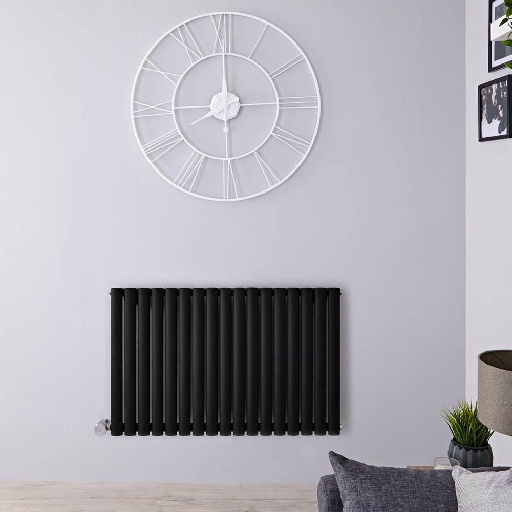 Designradiator  Elektrisch Thermostatisch Horizontaal Zwart 63,5cm x 100cm | Revive
