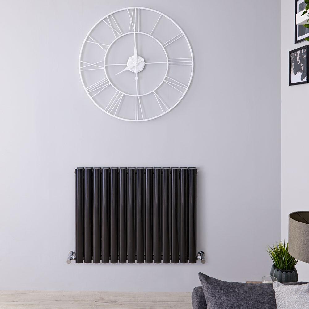 Revive Designradiator Horizontaal Zwart 63,5cm x 160cm x 7,8cm 1304 Watt