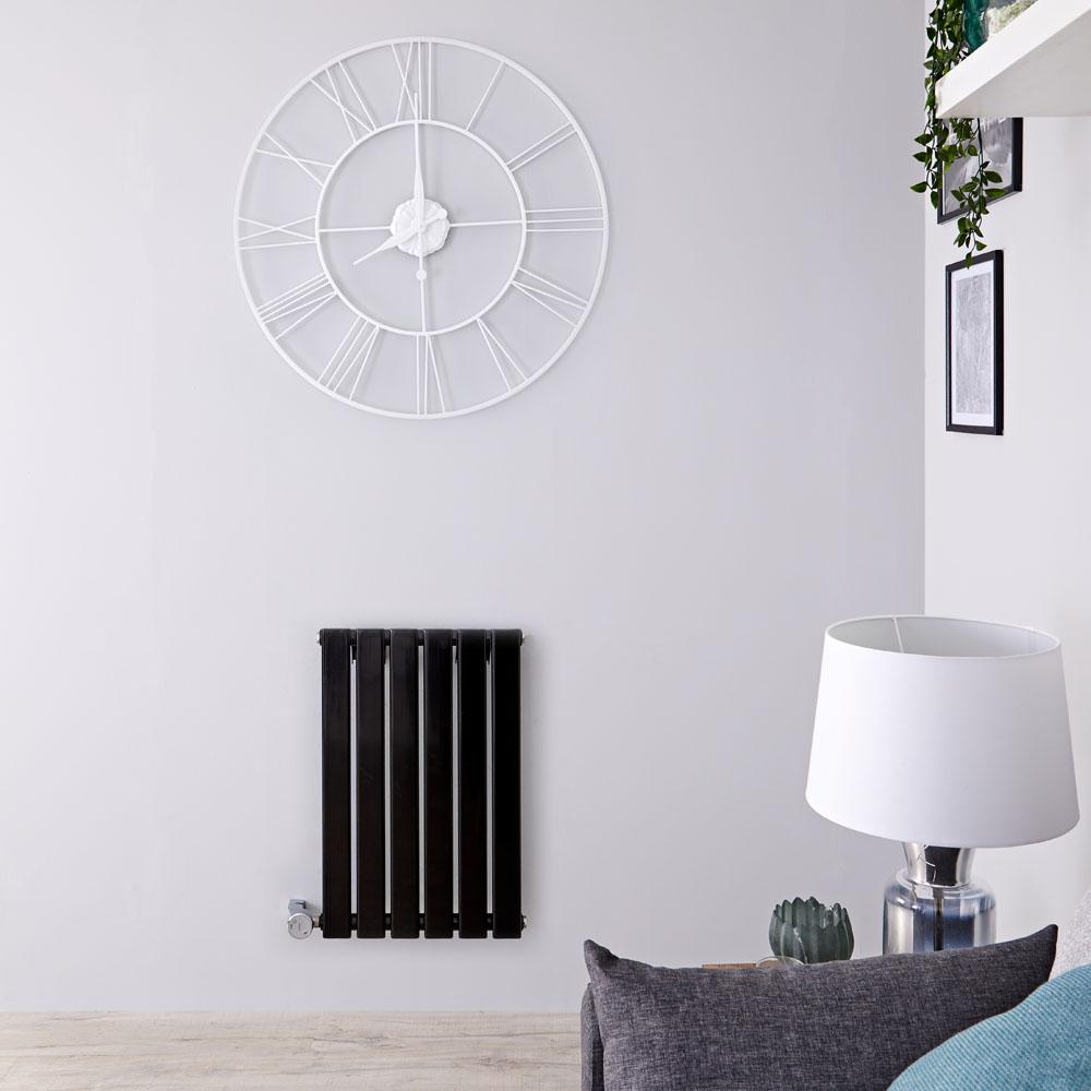 Delta Designradiator Elektrisch Horizontaal Zwart 63,5cm x 100cm x 4,6cm