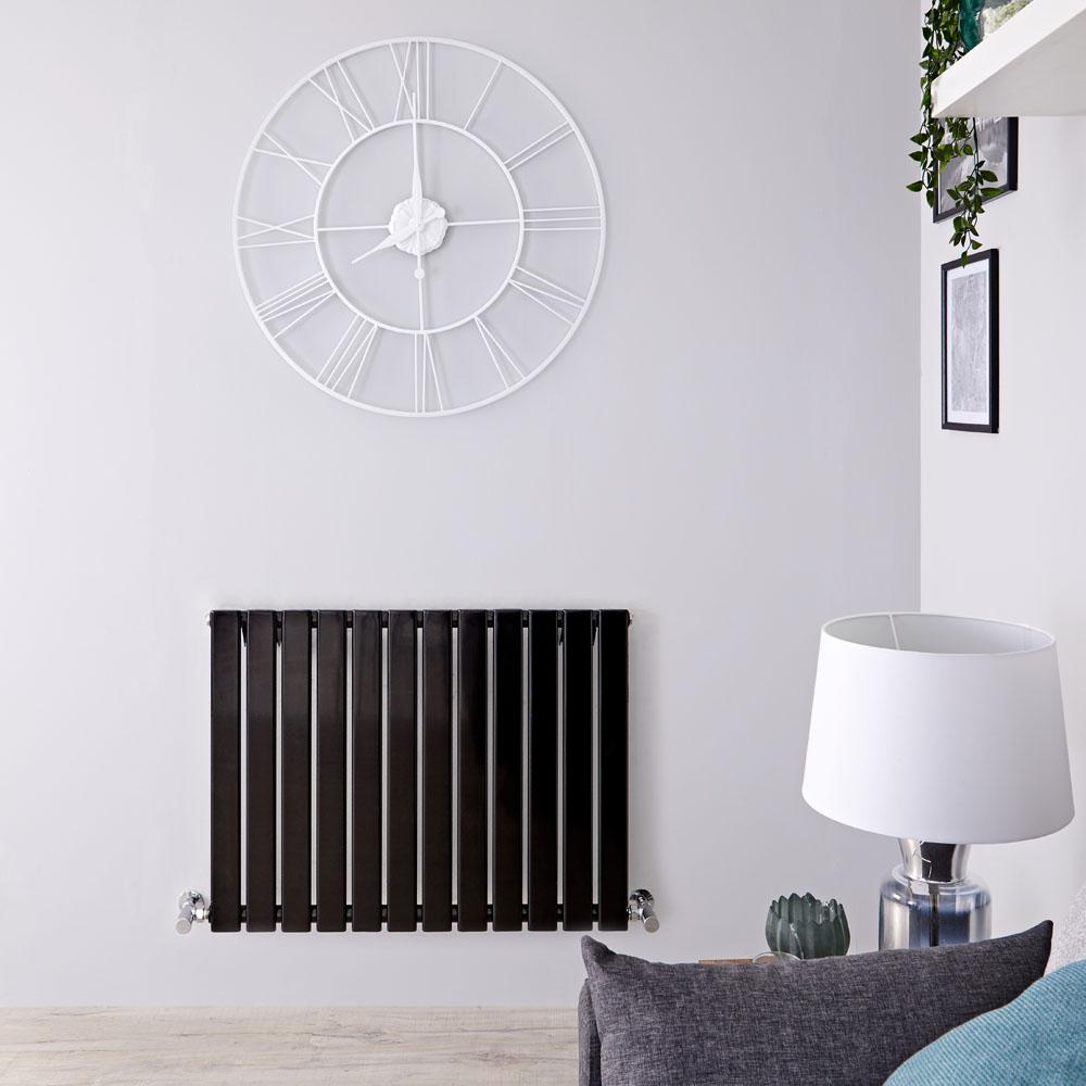 Delta Designradiator Horizontaal Zwart Hoogglans 63,5cm x 164,7cm x 4,6cm 751 Watt