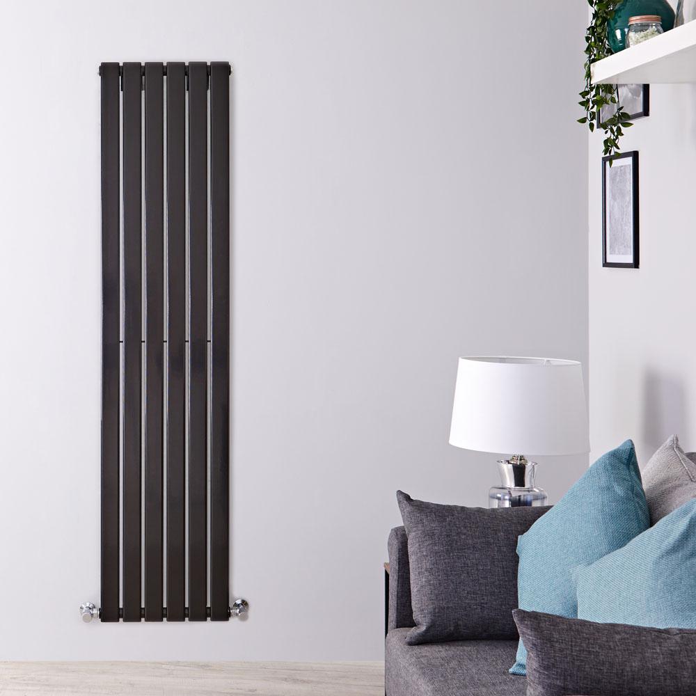 Delta Designradiator Verticaal Zwart 160cm x 42cm x 4,7cm 879 Watt