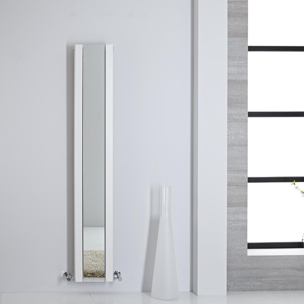 Sloane Spiegelradiator Verticaal Dubbelpaneel 160m x 26,5cm x 7,2cm Wit 789 Watt