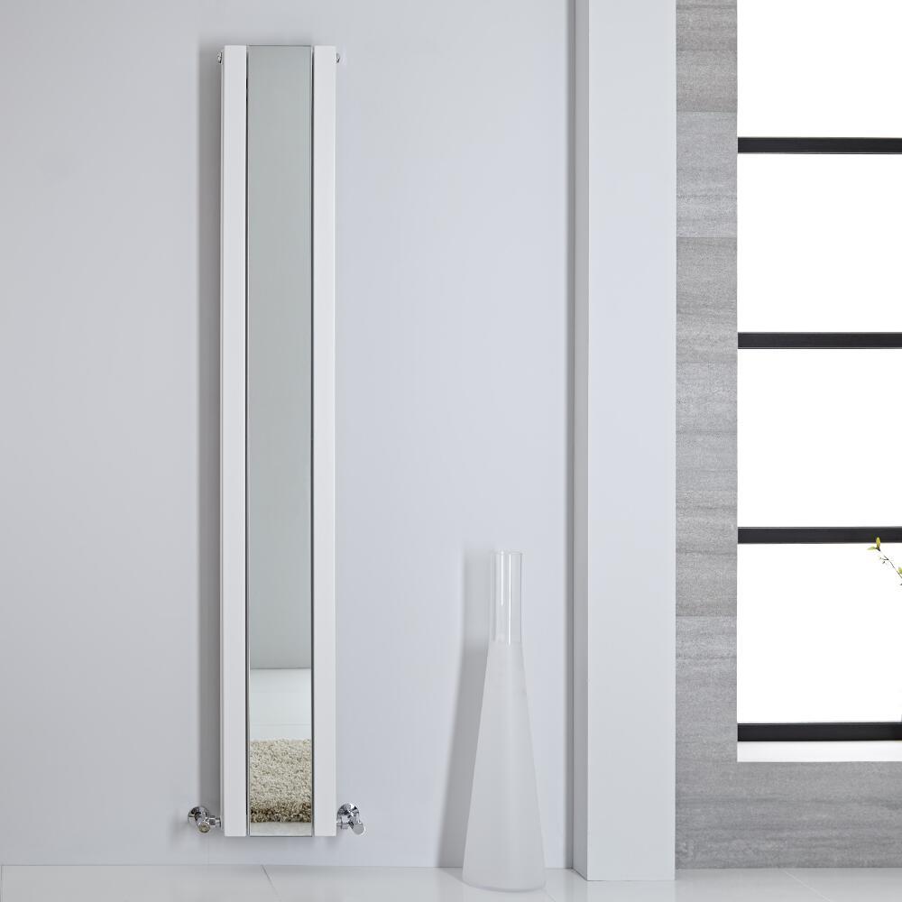 Sloane Spiegelradiator Verticaal Dubbelpaneel 180cm x 26,5cm x 7,2cm Wit 901Watt