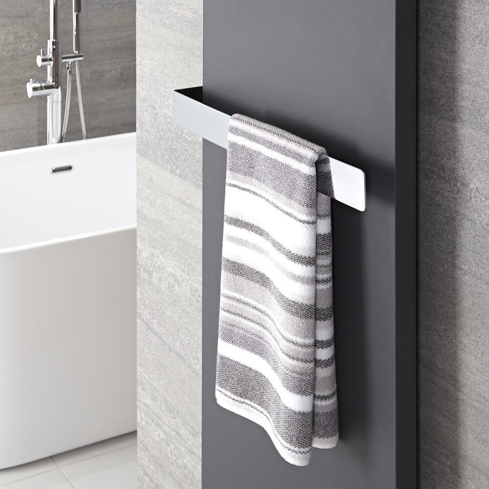 Verchroomd Messing Handdoekrek - 6 x 52 x 12,5 cm