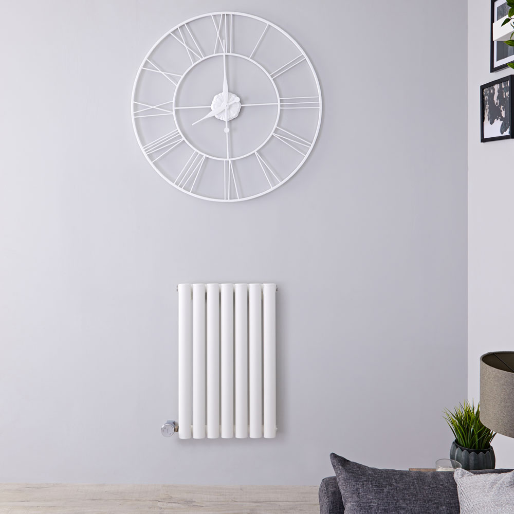 Designradiator Elektrisch Thermostatisch Horizontaal Wit 63,5cm x 41,5cm | Revive
