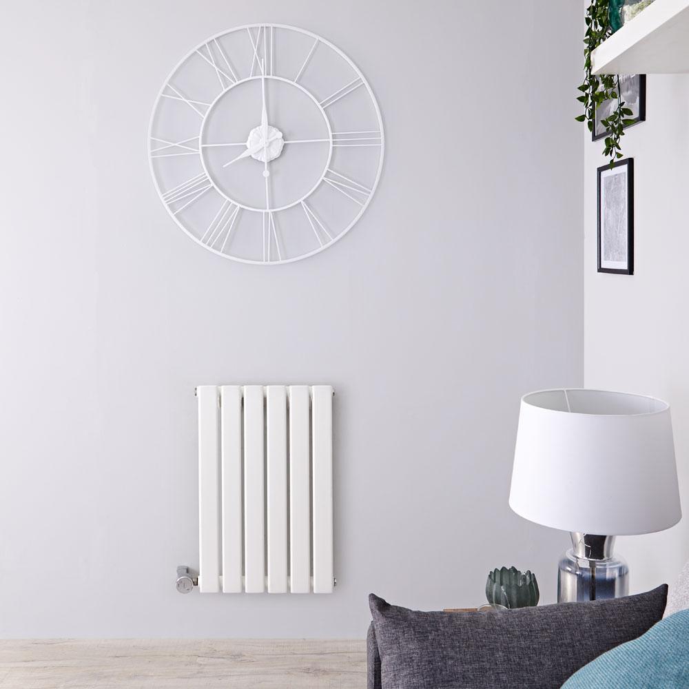 Designradiator Elektrisch Thermostatisch Horizontaal Wit 63,5cm x 42cm | Delta