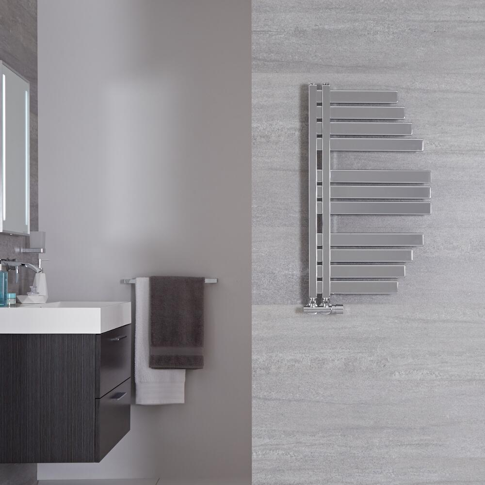 Lazio Designer Handdoekradiator Chroom 80cm x 46,3cm 235Watt