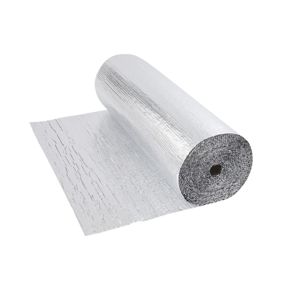 Dubbelzijdige Aluminium Isolerende Dubbellaagse Noppenfolie - 5m x 1,2m