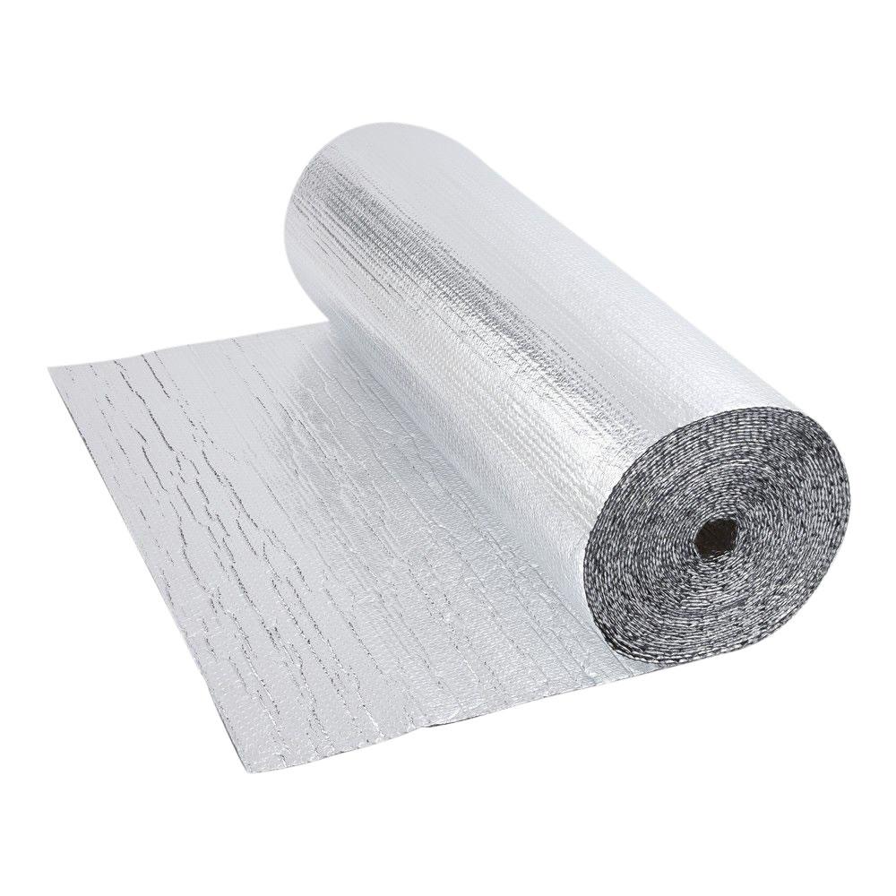 Dubbelzijdige Aluminium Isolerende  Dubbellaagse Noppenfolie - 10m x 1,2m