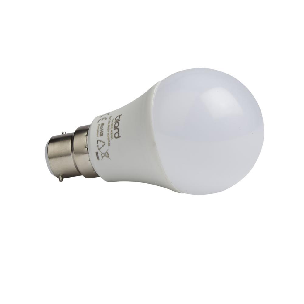 Biard 6 x LED Gloeilamp 7W B22 Dimbaar