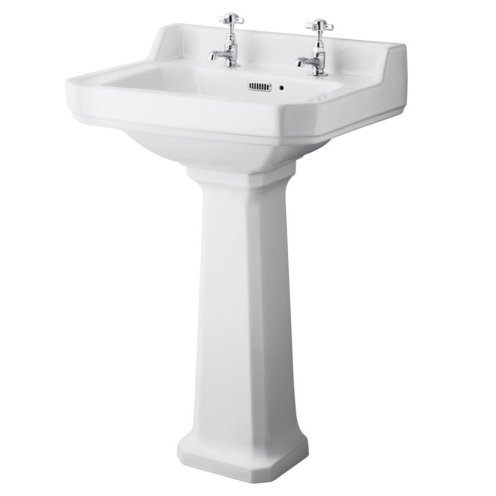 Richmond Wastafel - 56cm & Toilet met Reservoir en Keuze Toiletzitting