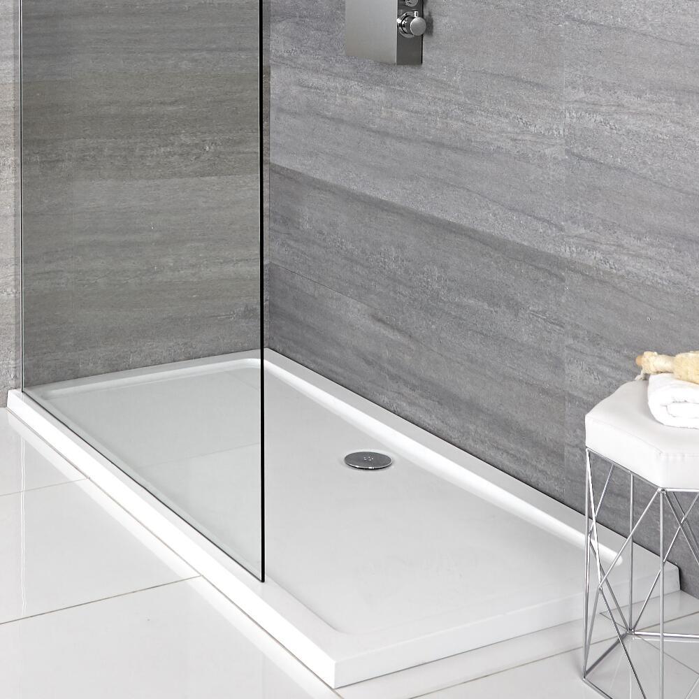 Rechthoekige Douchebak Afgedekt met Acryl Wit 120 x 70cm | Maxon