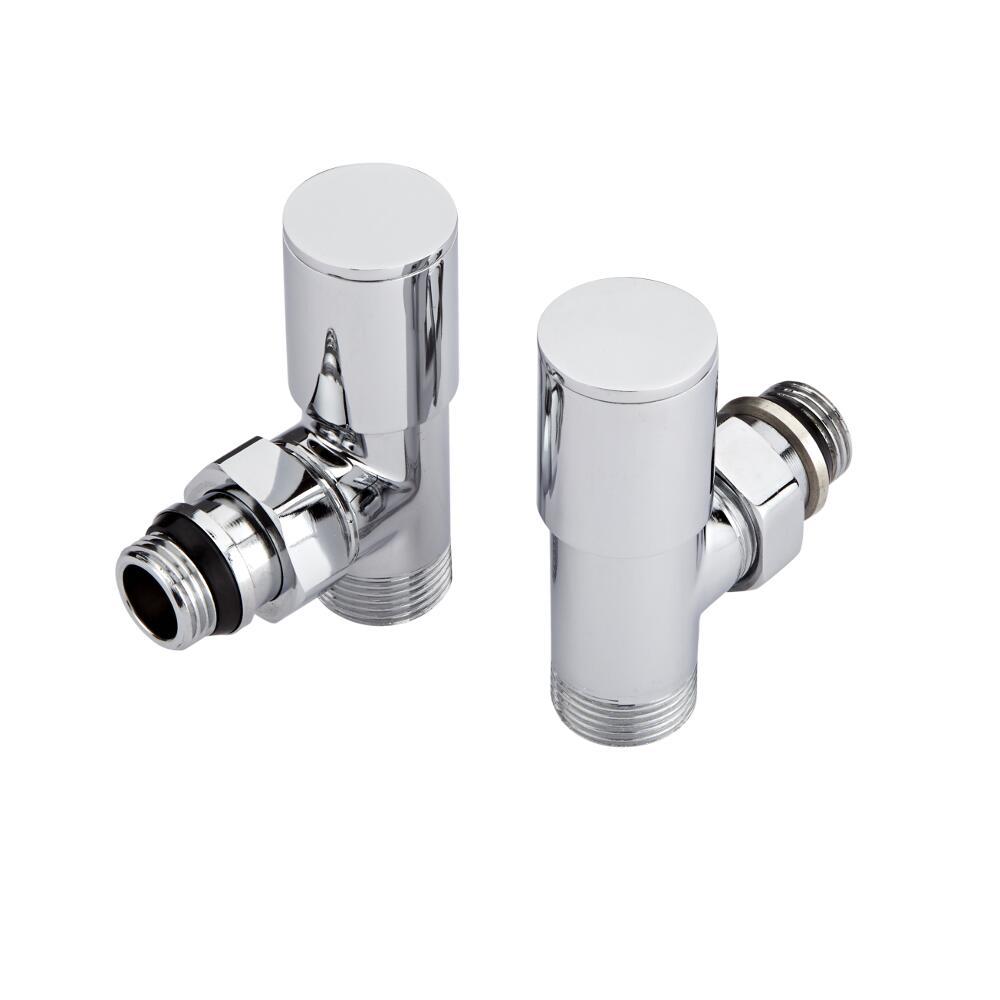 Radiatorkraan Haaks 3/4'' Mannelijk Wit met Keuze uit Adapters