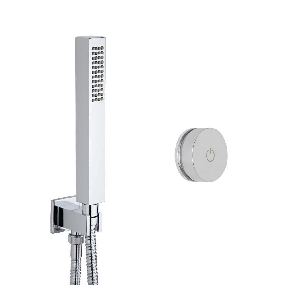Narus - 1-weg Digitale Thermostaatkraan met Handdouche Combinatie Vierkant