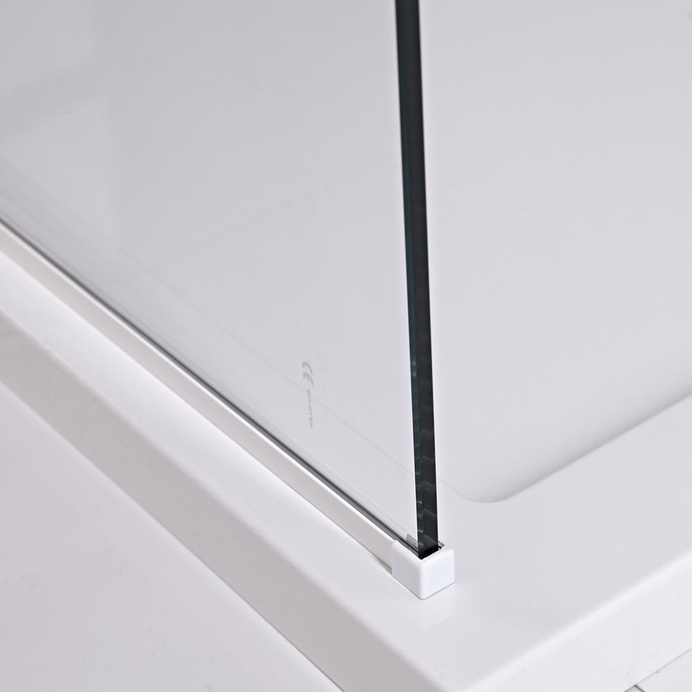 U-Vloerprofiel Voor Lux Douchewanden - Wit
