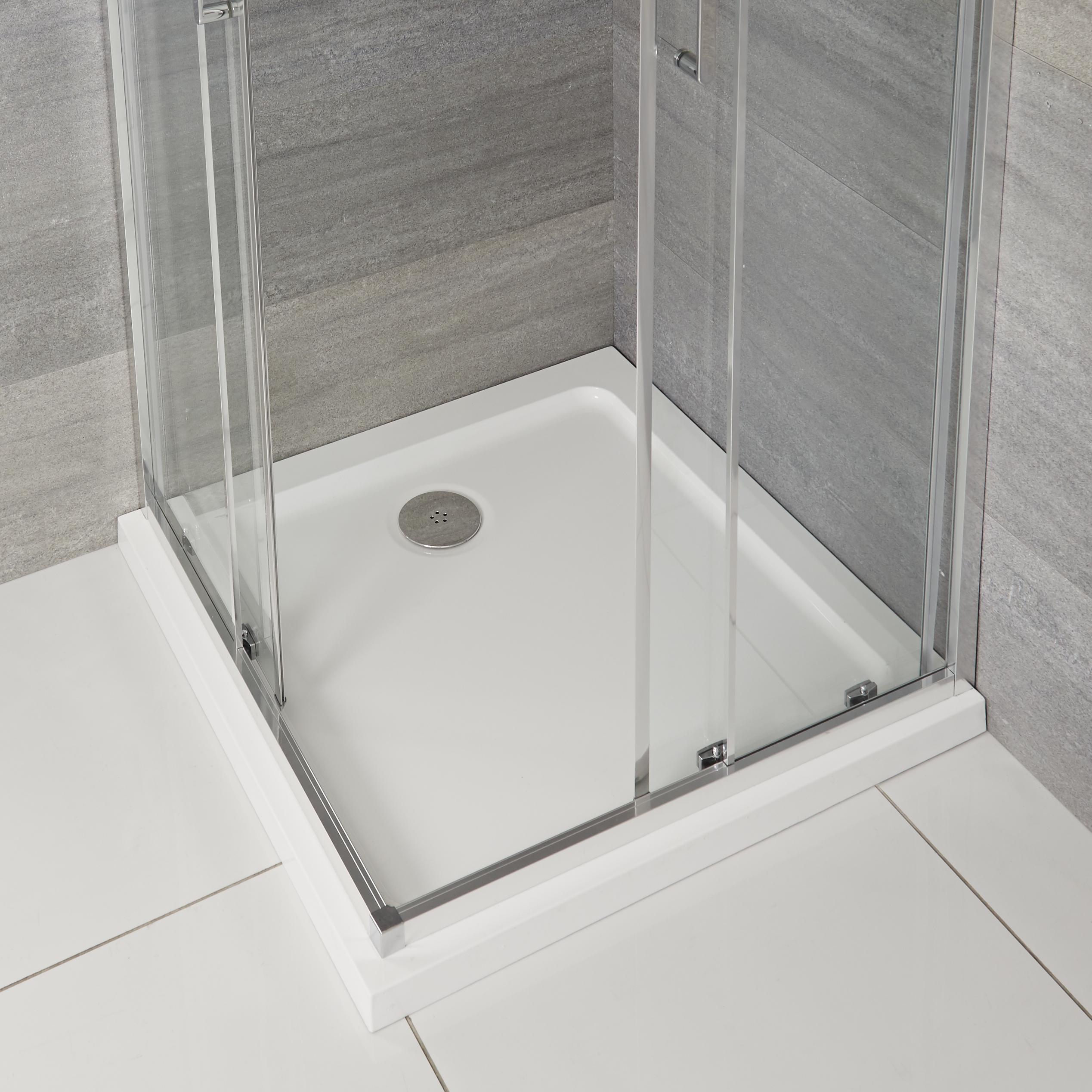 Vierkante Douchebak Wit Afgedekt met Acryl 70 x 70cm | Maxon