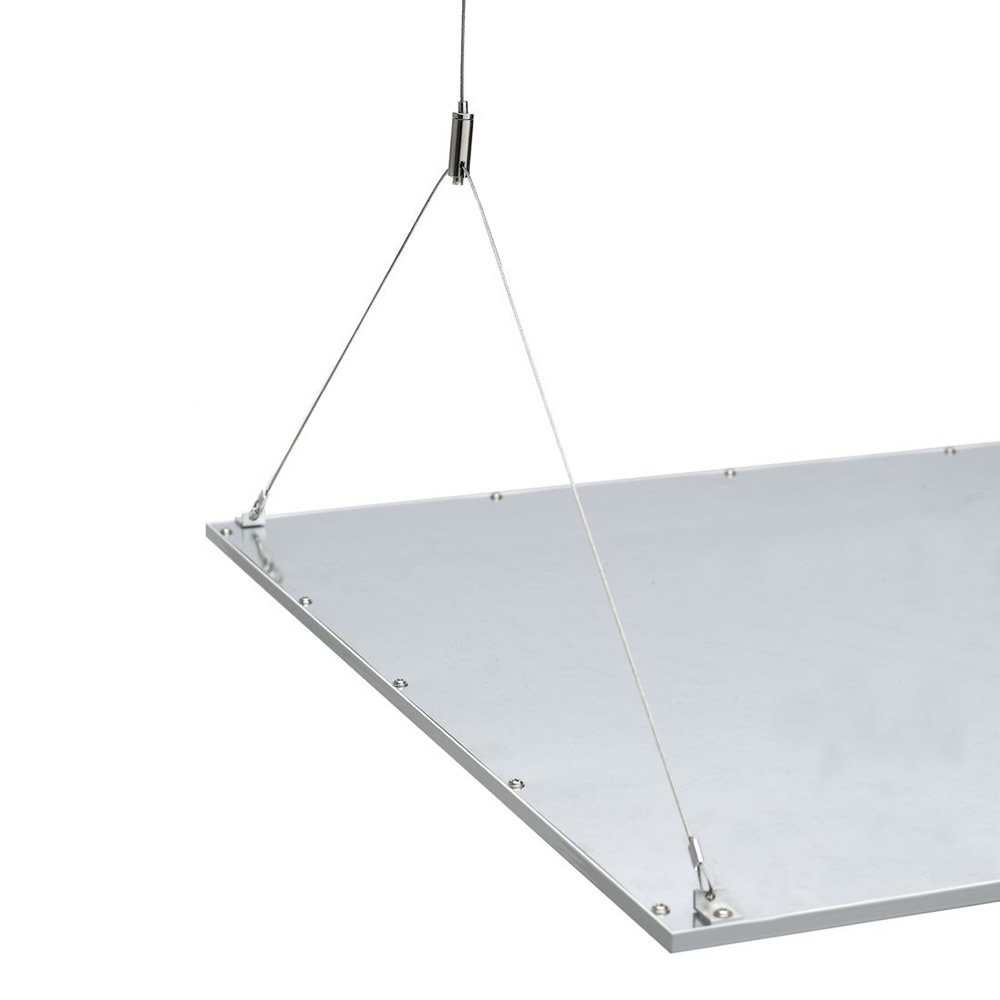 Biard RVS Suspensie Draden voor 60 x 60cm LED paneelverlichting - 100cm