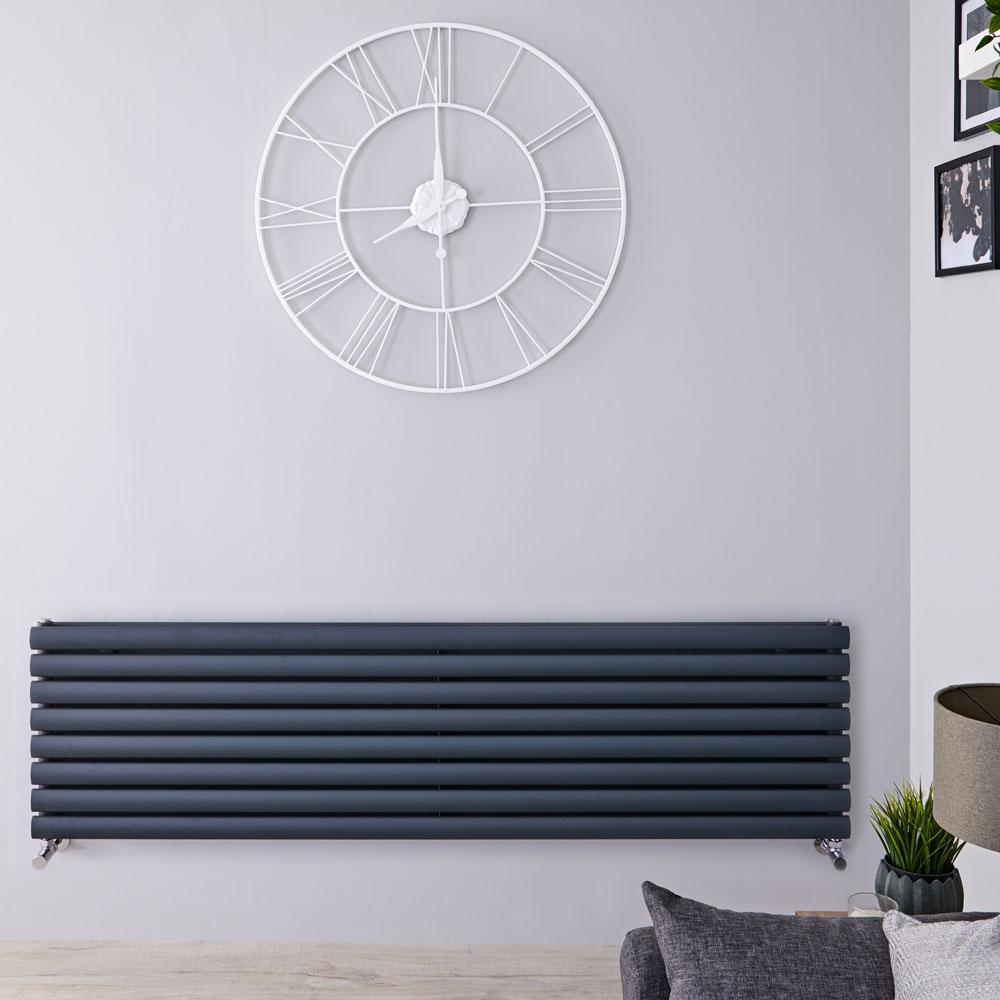 Revive Designradiator Horizontaal Antraciet 47,2cm x 178cm x 7,8cm 1798Watt