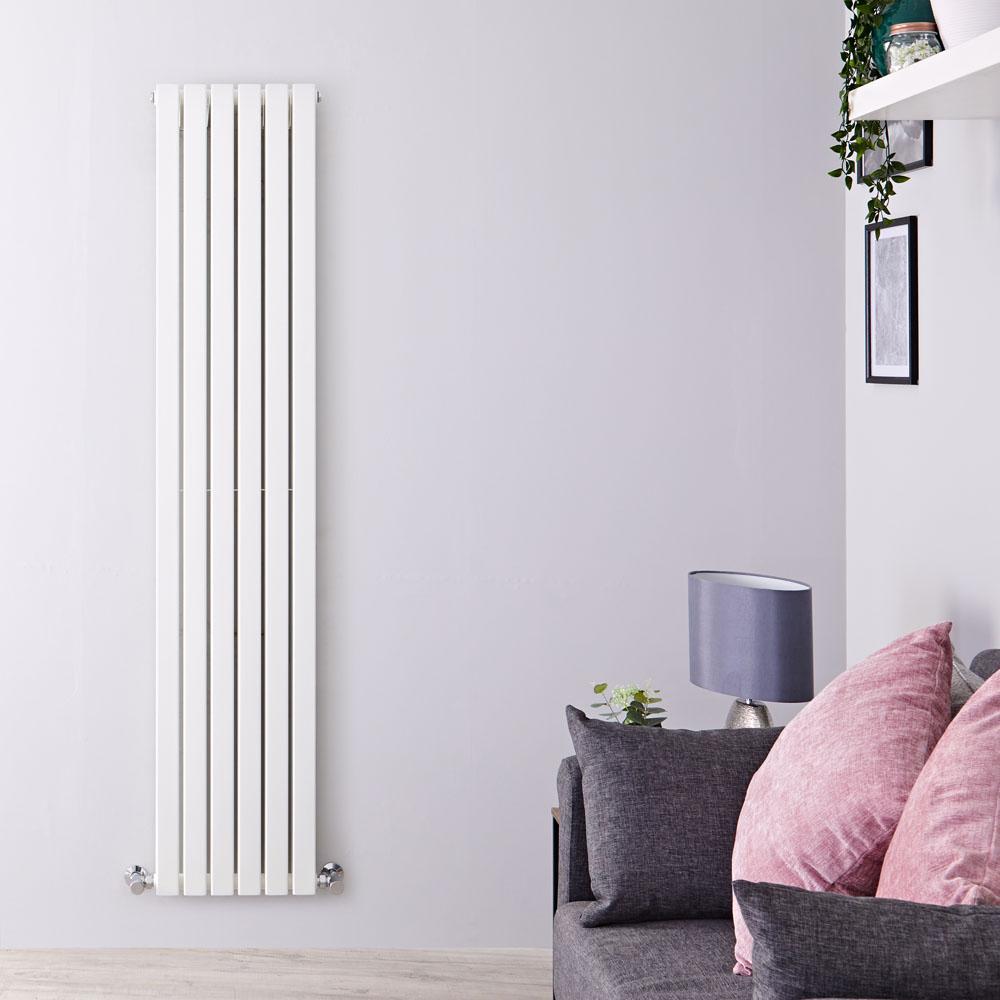 Sloane Designradiator Verticaal Wit 178cm x 35,4cm x 7,2cm 1448 Watt
