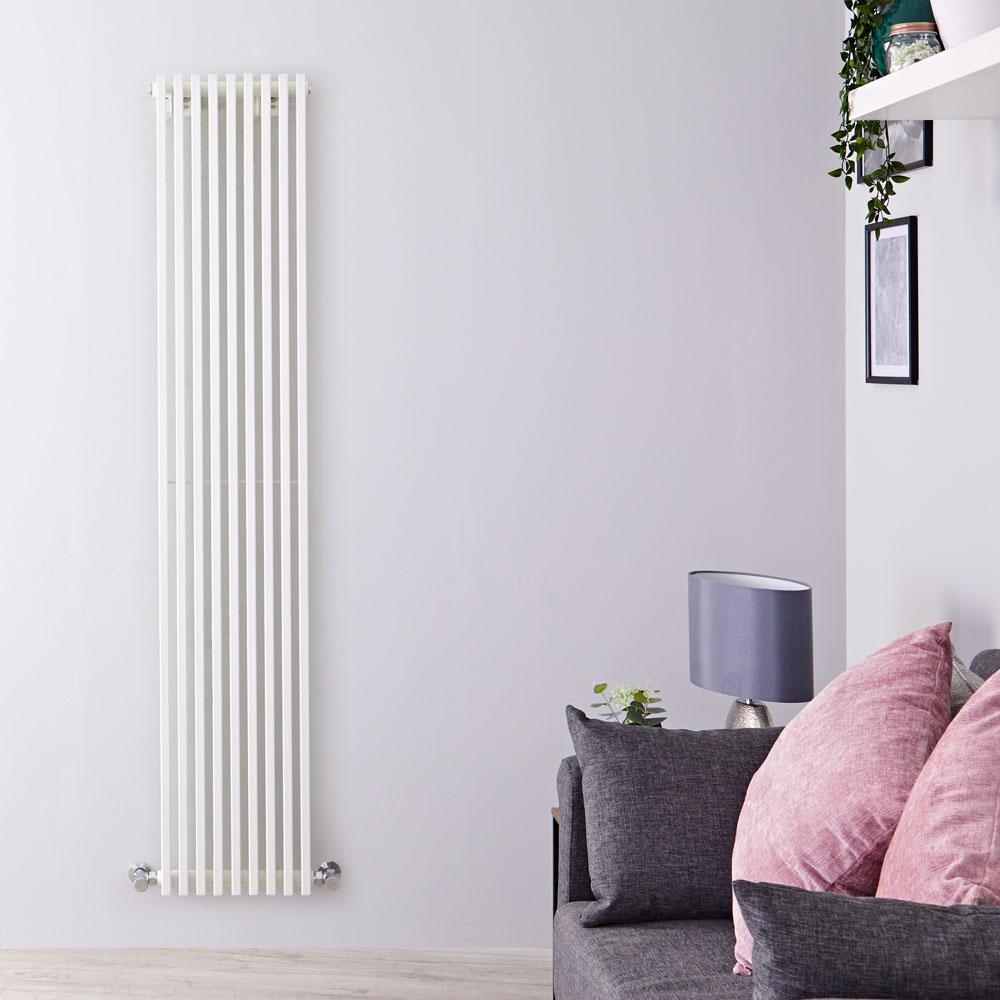 Parallel Designradiator Verticaal Wit 178cm x 34,2cm x 8,4cm 1177 Watt