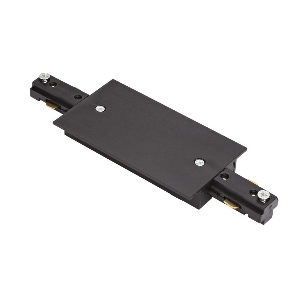 1-Fase Rechte Doorverbinder Voor Verzonken Railverlichting - Zwart