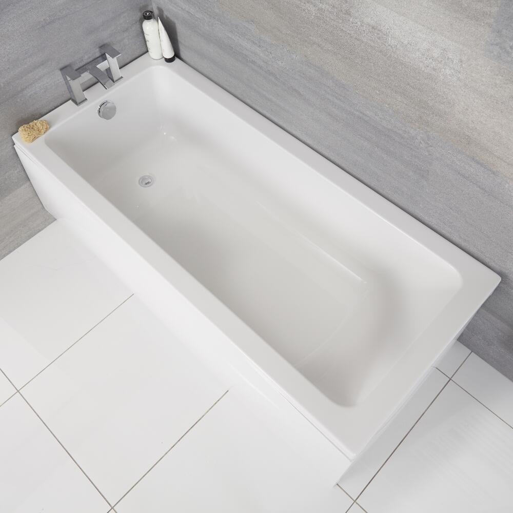 Rechthoekig Acryl Ligbad - 180 x 80cm excl. badpaneel