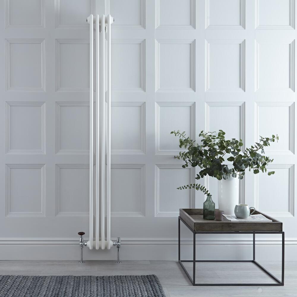 Designradiator Verticaal Klassiek Wit 180cm x 20cm x 10cm 779 Watt - Windsor