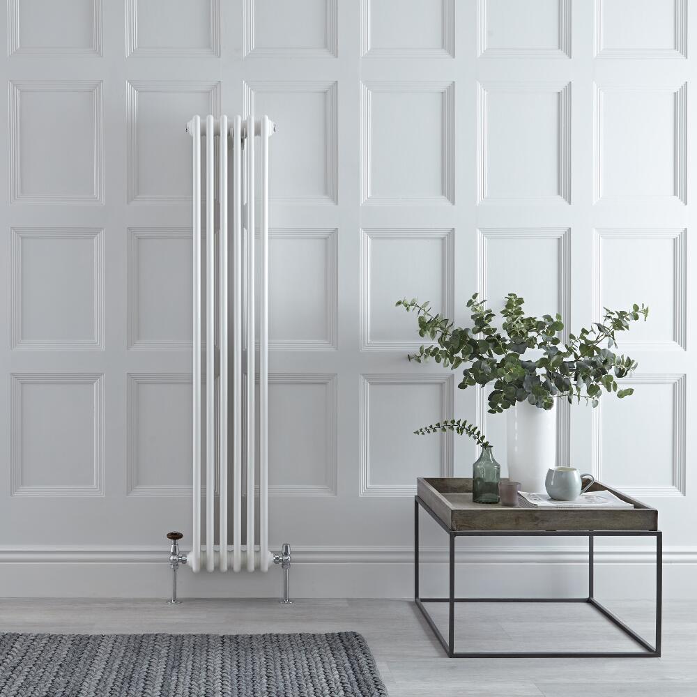 Windsor Designradiator Verticaal Klassiek Wit 150cm x 28,8cm x 6,8cm 822 Watt