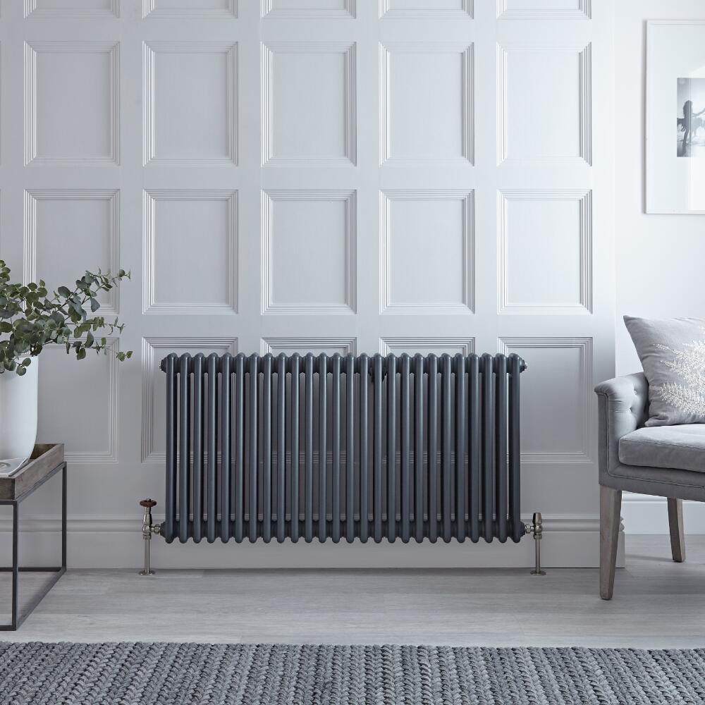 3 - Kolomradiator Horizontaal Anthraciet 60 x 119 cm1900Watt - Windsor