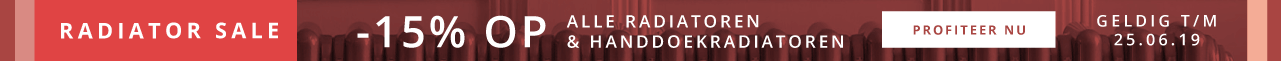 -15% Op Alle Radiatoren & Handdoekradiatoren