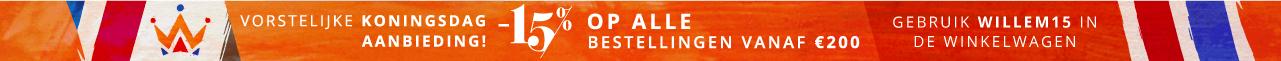 -15% op ALLE bestellingen vanaf €200 - Gebruik WILLEM15 in de winkelwagen
