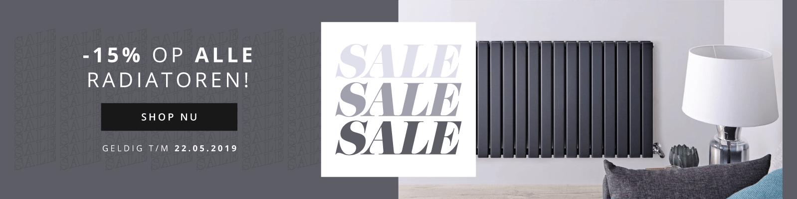 SALE -15% op alle radiatoren! Shop NU geldig t/m 22.05.2019