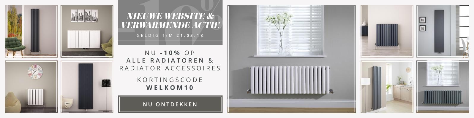 NU -10% op alle radiatoren & radiator accessoires - Kortingscode WELKOM10
